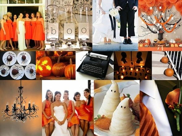halloween wedding ideas those little ghosts are cute