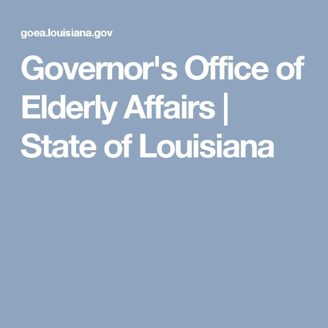 Governor's Office of Elderly Affairs | State of Louisiana