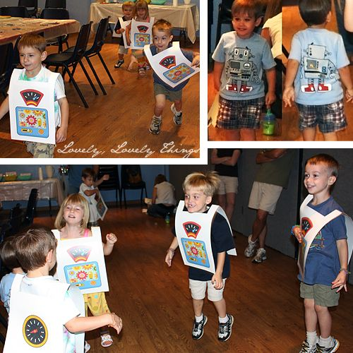 Robot Birthday Party Games