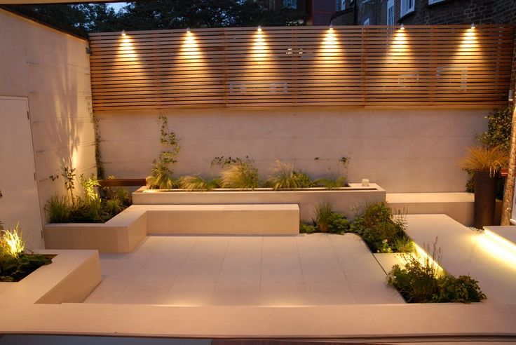 Courtyard with amazing outdoor lighting | Green Turf Irrigation | www.greenturf.com/services