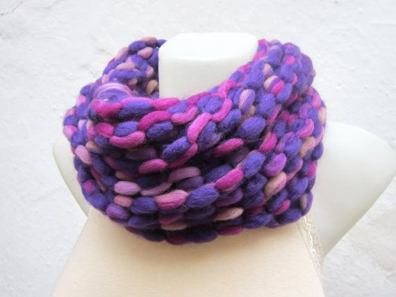 Scarf infinity  Necklace scarf  Colorful  winter  by nurlu on Etsy