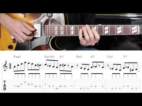 Jazz Guitar Lesson #26 - Progression #3 (Blues for Ali) - Improvisation #2