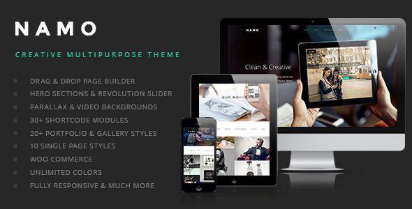 NAMO - Creative & Stylish Multi Purpose Responsive Wordpress Theme