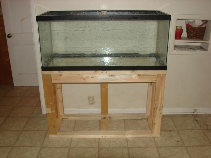Plans To Build A 55 Gallon Aquarium Stand Woodworking