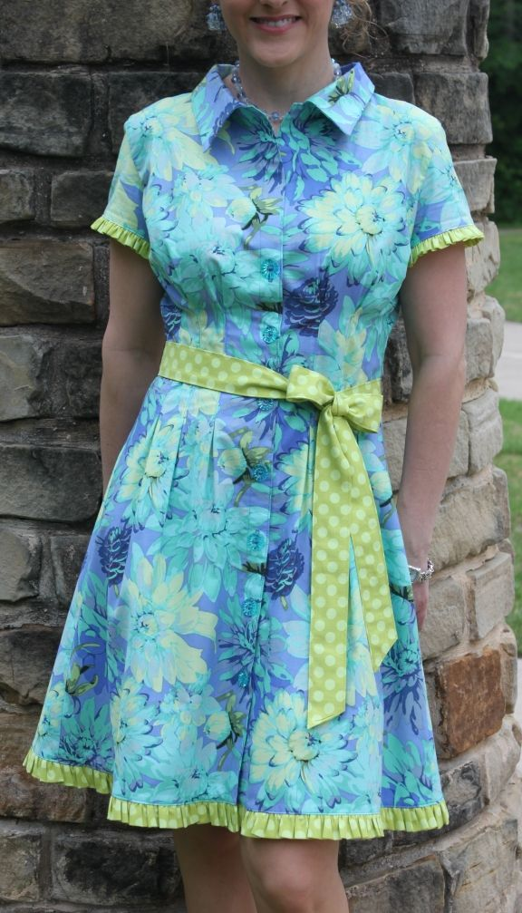 Sally Shirtdress Sewing Pattern PDF $11.00 and the pattern comes with a tutorial too