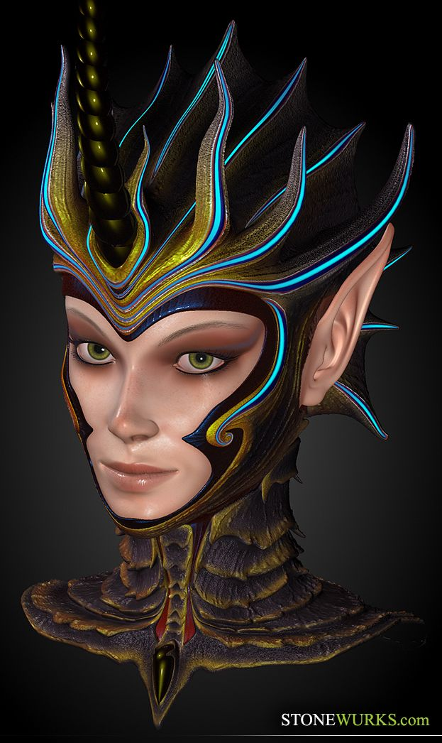 Sea Elf Bust by stonewurks.deviantart.com on @deviantART