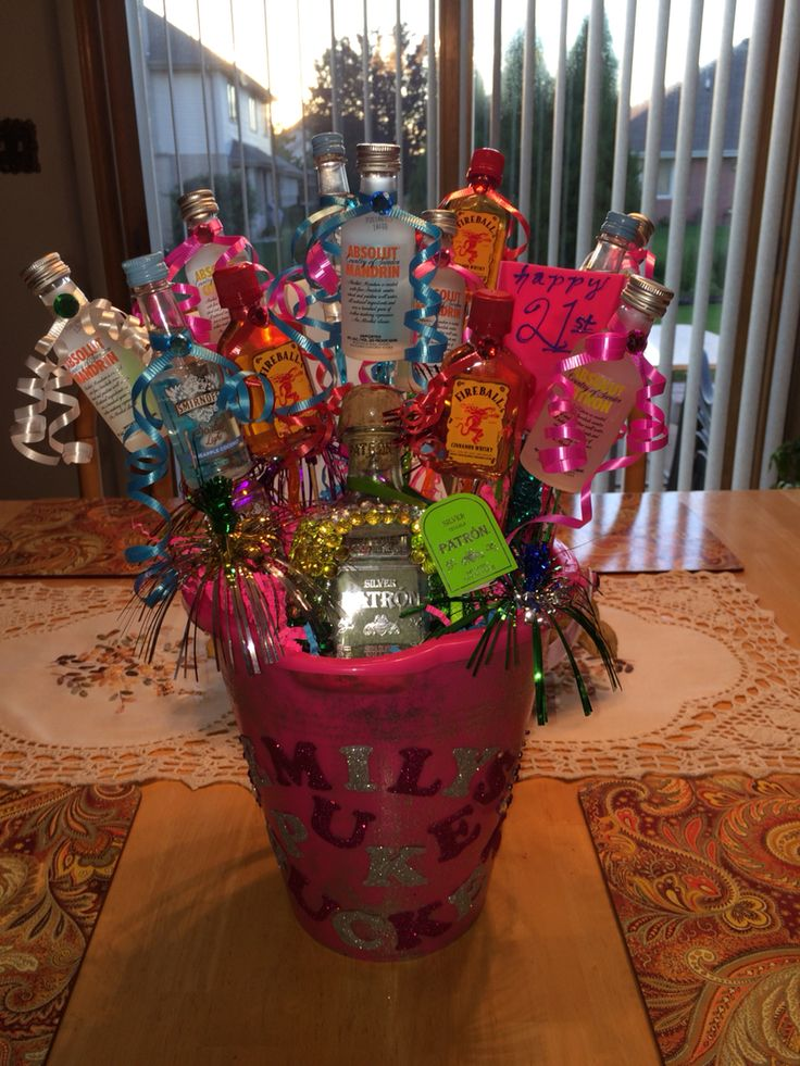 21st birthday idea | puke bucket
