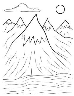Mountain Coloring Pages For Kids
