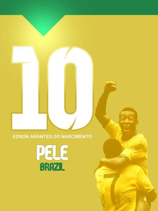 LEGEND OF NUMBER 10 by ahmed moyasser, via Behance #soccer #poster #pele