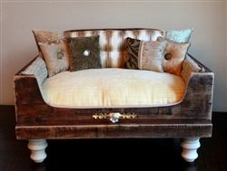 Luxury Designer Luxury Antique Dog Bed - Beds, Blankets  Furniture - Furniture Style Beds Posh Puppy Boutique