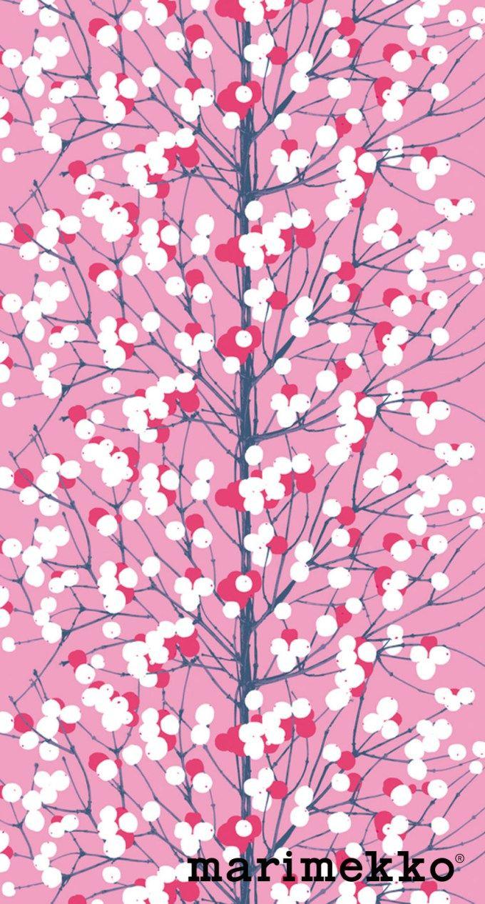 マリメッコ/ネイチャーパターン11 iPhone壁紙 Wallpaper Backgrounds iPhone6/6S and Plus Marimekko Nature Pattern iPhone Wallpaper