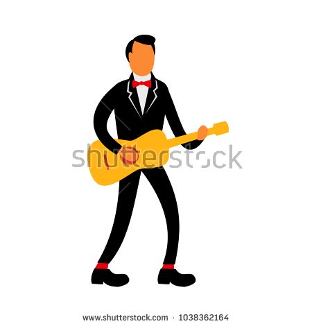 Retro style illustration of a guitarist in tuxedo suit playing the guitar on isolated background.  #guitarist #retro #illustration