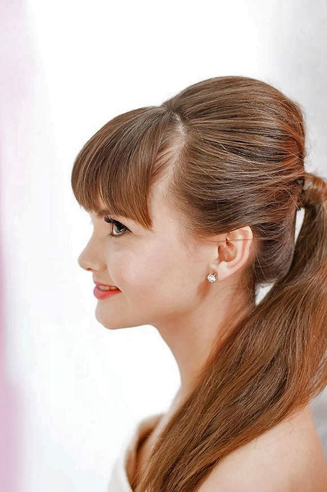 18 Chic Wedding Hairstyles With Bangs ❤ Wedding hairstyles with bangs are some...