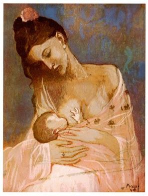 Picasso-My mother had this over her bed (This painting reminds me of when I used to breastfeed my children, pure bliss and loving connection-Creativity01)