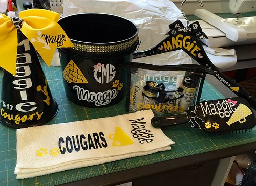 Cheerleader gifts for cheer camp  PERSONALIZED : bucket … | Flickr