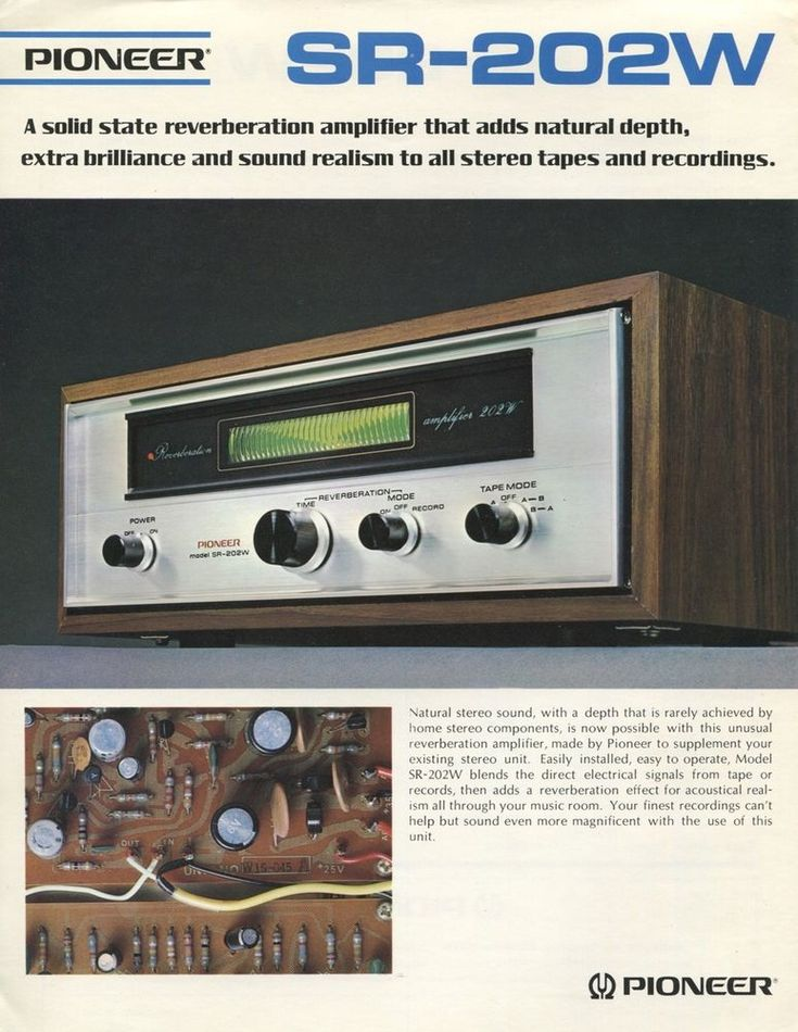 Pioneer SR-202W Original Reverb Amplifier Brochure 1972 | Consumer Electronics, Vintage Electronics, Vintage Audio & Video | eBay!