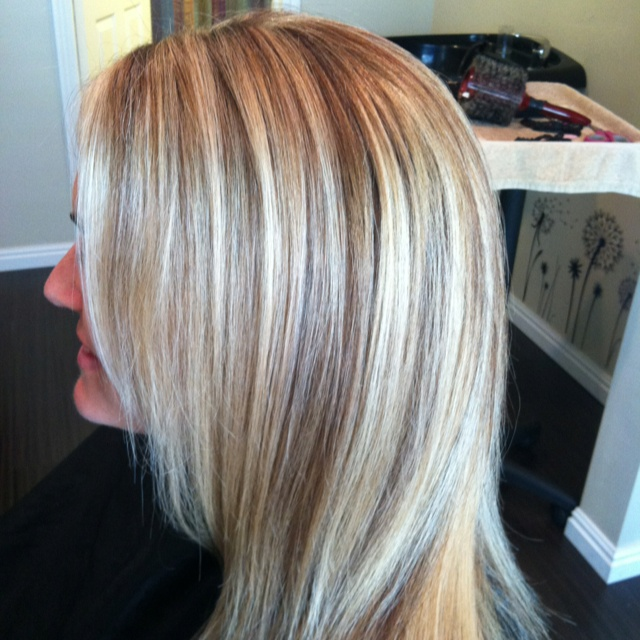 The gallery for --> Bleach Blonde Hair With Caramel Lowlights