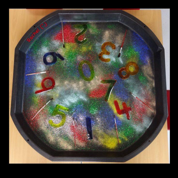 """Firework-inspired mark making in glitter from Rachel ("""",)"""