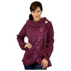 Flowering Vines Fleece Wrap Jacket