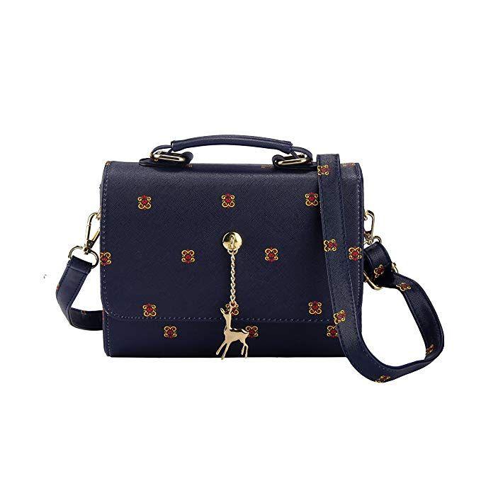 658e3899a7bf Crossbody Bag for Women Girls PU Leather Classic Shoulder Phone Purse Fawn  Pendant. As an