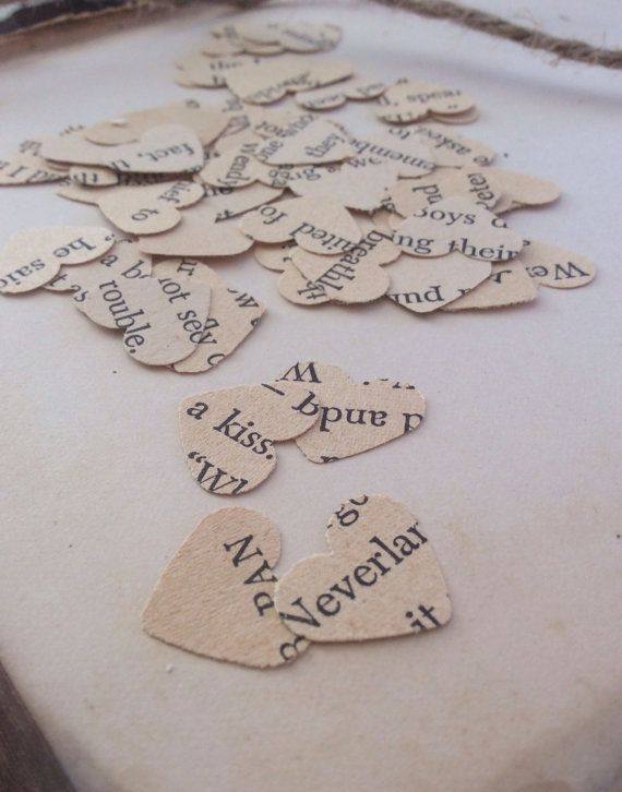 These look lovely on tables for cakes or around your guest tables. I have a slightly bigger and different heart punch in other listings if you