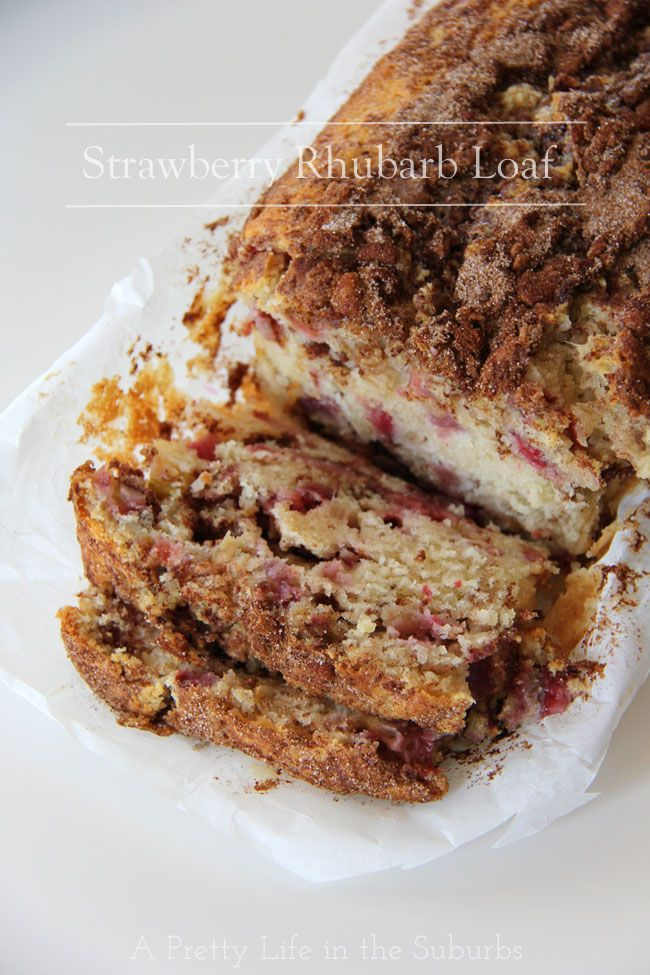 Strawberry Rhubarb Loaf Recipe on Yummly. @yummly #recipe