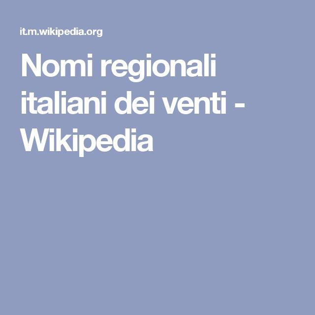 Nomi regionali italiani dei venti - Wikipedia