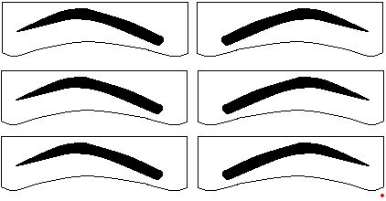 graphic regarding Printable Eyebrow Stencil named Eyebrow Dimensions Pictures - Opposite Glimpse