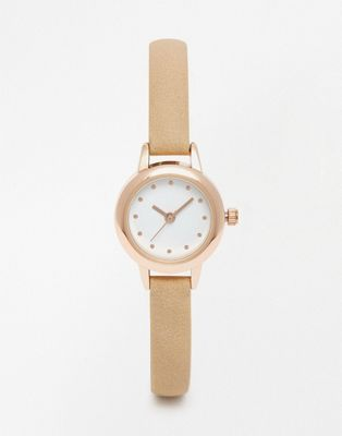 ASOS Skinny Nude Strap Mini Watch