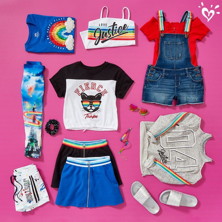 Currently Loving Rainbows Creative Prints And Pops Of Color Justice Clothing Outfits Cute Outfits For Kids Justice Girls Clothes