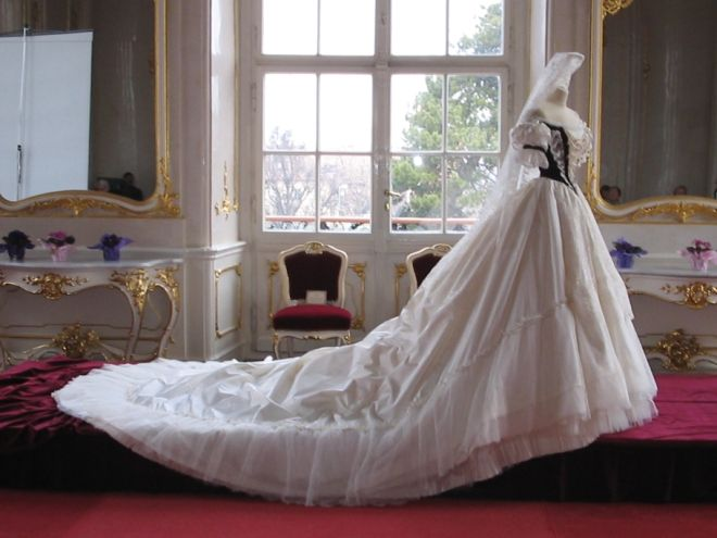 Replica of Gown Worn by Elisabeth of Bavaria for Her Coronation as Queen of Hungary, 8 June 1867