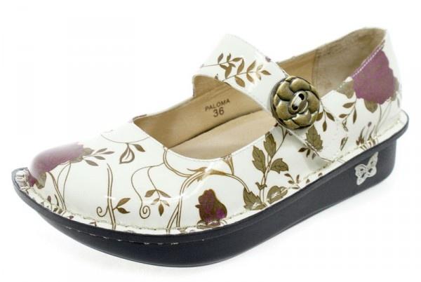 Alegria Paloma White Rose Mary Jane $119