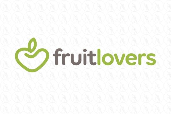 Fruit Lovers Logo - $450 (negotiable) http://www.stronglogos.com/product/fruit-lovers-logo #logo #design #sale #fruit #healthy #food #organic #farmers #market #orchard