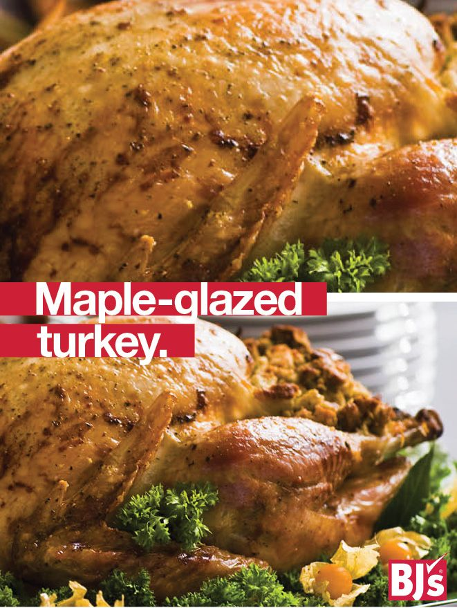 Classic Turkey Recipe - Cornbread stuffing and real maple syrup are traditional New England fall flavors for your Thanksgiving feast. http://stocked.bjs.com/food/recipes/maple-glazed-turkey-cornbread-stuffing