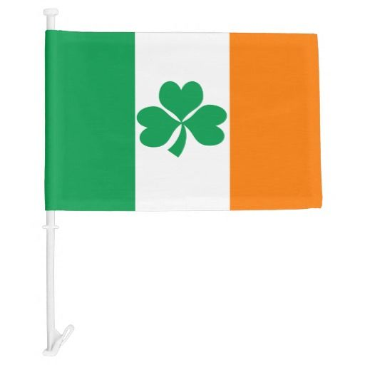 Ireland car flag for St Paddy's day