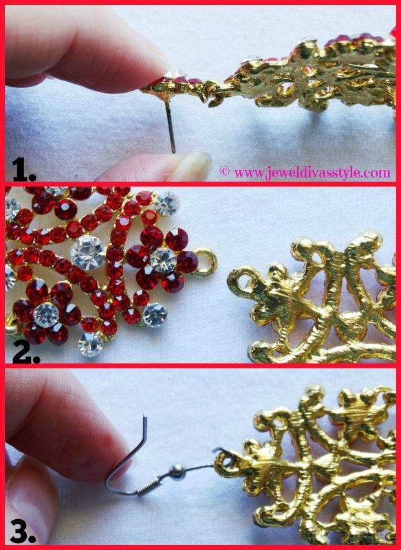 JDS -  How to change your earrings studs to hooks - http://jeweldivasstyle.com/accessory-style-how-to-change-your-earrings-studs-to-hooks/