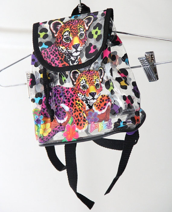 90s Clear Lisa Frank SuperMini Backpack with by HumanNightmare, $75.00