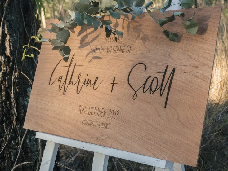 Wooden Wedding Signage, Entrance Signage, Timber Wedding Sign