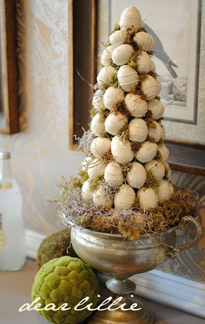More great Easter decorating ideas from http://dearlillieblog.blogspot.com/2011/03/7-easter-egg-makover-project-and-our.html