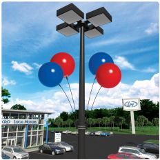 DuraBalloon Light Pole Kit - 4pack | feather flags, custom feather banner flags, swooper flags