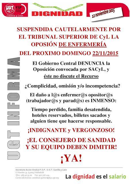 Suspendida cautelarmente por el Tribunal Superior de Castilla y León la oposición de enfermería del próximo domingo.