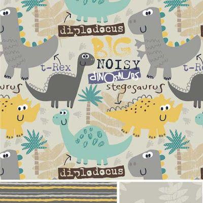 print & pattern: DESIGNER - florrie grace studio. Dinosaur textile pattern.