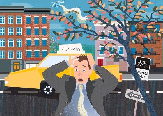 Нью-йоркские агенты недвижимости в легкой панике – беда пришла оттуда, откуда ее совсем не ждали. С недавних пор хлеб у коренных риелторов стал отнимать не какой-то мощный конкурент с особой тактикой, стратегией и бойкими агентами, а обыкновенное app-приложение. Предназначенное для поиска недвижимости на устройствах iOS и Android и запущенное всего-то полтора года назад приложение Compass (ранее – Urban Compass) уже доставило немало неудобств своим реальным конкурентам. Неудобств таких, что…