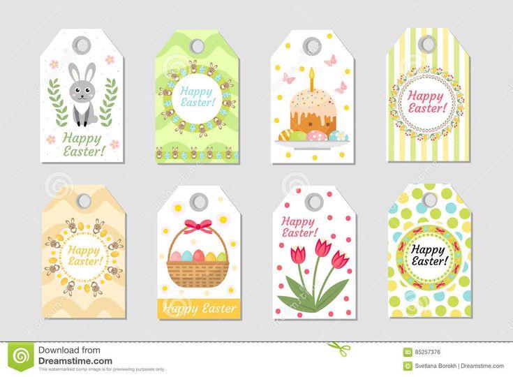 Etiquetas Lindas De Pascua Fijadas Etiqueta La Colección Con El Conejo, Los Huevos Y Las Flores Plantillas De La Primavera Para S Ilustración del Vector - Ilustración de banquete, regalo: 85257376