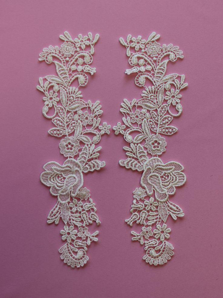 Ivory Corded Lace Appliques - Nova
