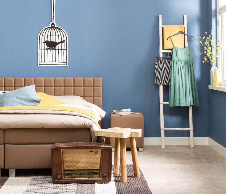 65 beste afbeeldingen over slaapkamer inspiratie op pinterest neutrale slaapkamers design - Behang hoofdbord ...