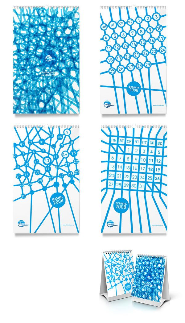 55 Cool & Creative Calendar Design Ideas For 2013 | Graphic & Web Design Inspiration + Resources