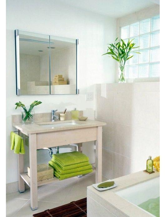 Bathroom idea home and garden design ideas bathroom for Bright green bathroom ideas