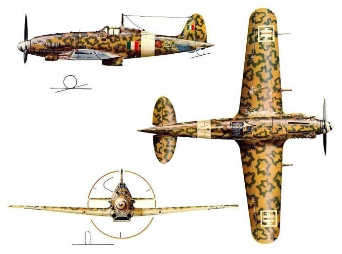 Aer. Macchi C.205 Veltro della 2a squadriglia (I gruppo) ANR