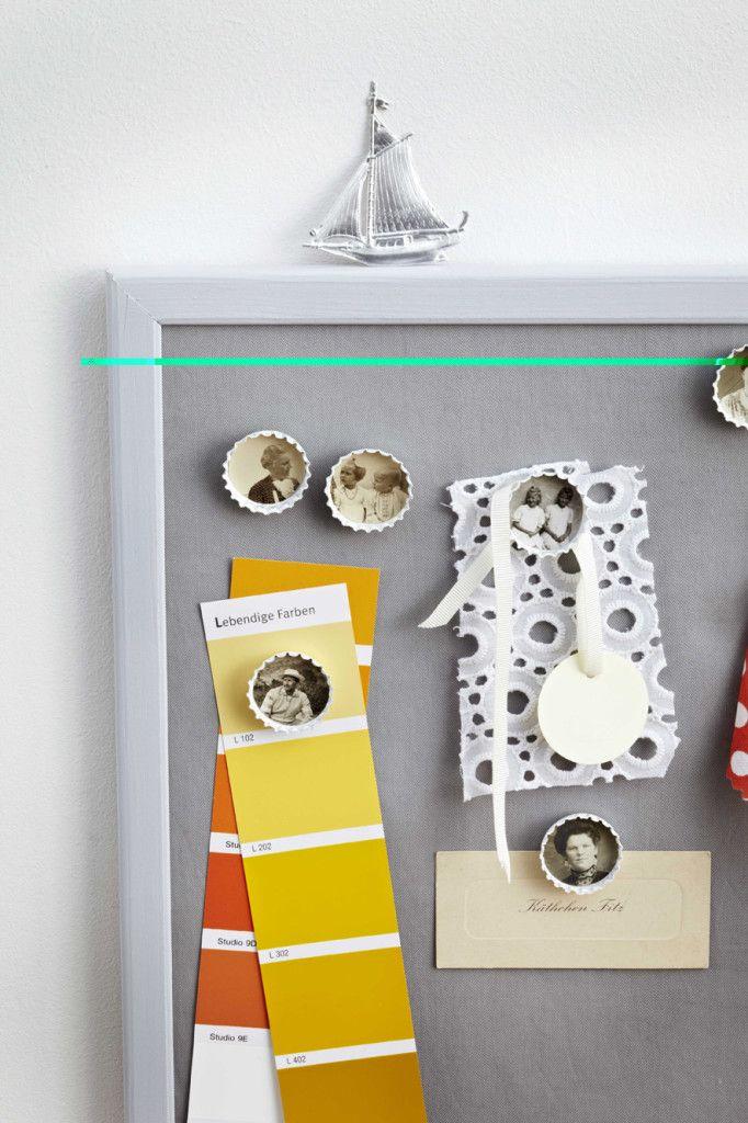 Περιοδικό Έτσι Απλά | Photo notes (magnets from bottle lids)